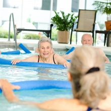 Lifestyle activities include senior pool for fitness.