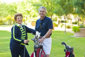 Retirement lifestyle can include favorite activities such as golfing.