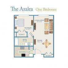 The Azalea floor plan.