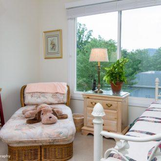 A smaller bedroom in the Dogwood floor plan at Ardenwoods.