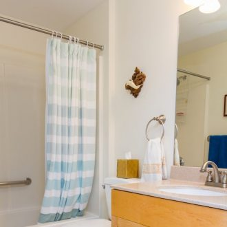A bathroom in the Dogwood floor plan.